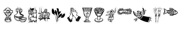 ReligiousSymbols Font LOWERCASE