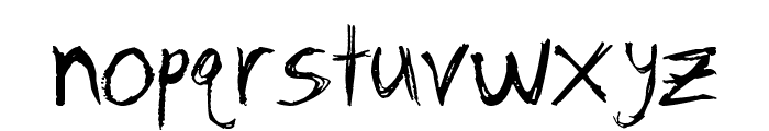 Remains / Zombie Font LOWERCASE