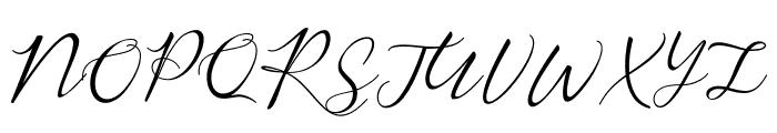 Rembrants Font UPPERCASE