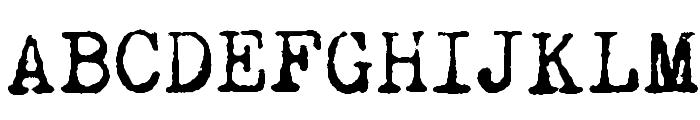 Remington Noiseless Font UPPERCASE