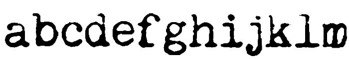 Remington Noiseless Font LOWERCASE