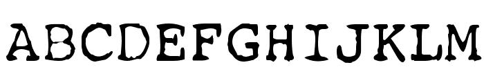 Remington Font UPPERCASE