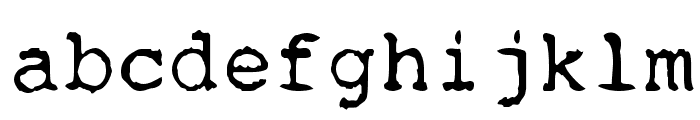 Remington Font LOWERCASE