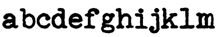 Remingtoned Type Font LOWERCASE