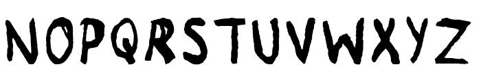 Remnant Regular Font UPPERCASE