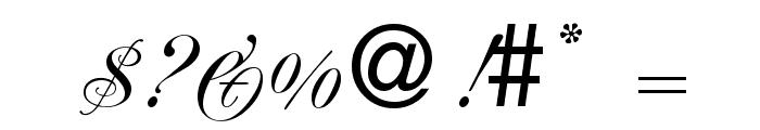 RenaissanceRegular Font OTHER CHARS