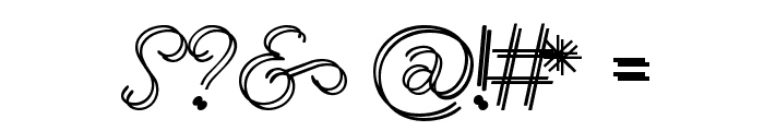 Renania Double Line Font OTHER CHARS