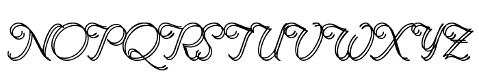 Renania Double Line Font UPPERCASE