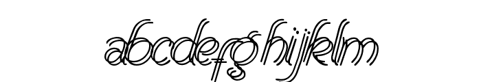 Renania Double Line Font LOWERCASE