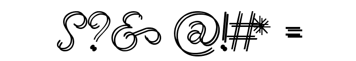 RenaniaDoubleLine Font OTHER CHARS