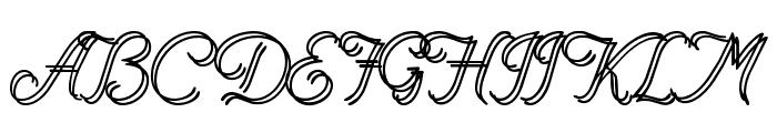 RenaniaDoubleLine Font UPPERCASE