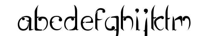 Rentjong Atjeh Regular Font LOWERCASE