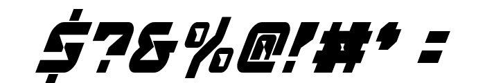 Replicant Condensed Italic Font OTHER CHARS