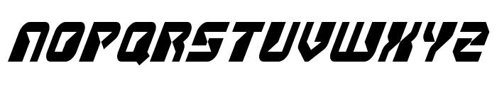 Replicant Condensed Italic Font UPPERCASE