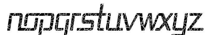 Republika Cnd - Shatter Italic Font LOWERCASE