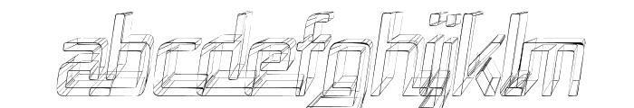 Republika Cnd - Sktech Italic Font UPPERCASE