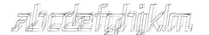Republika Cnd - Sktech Italic Font LOWERCASE