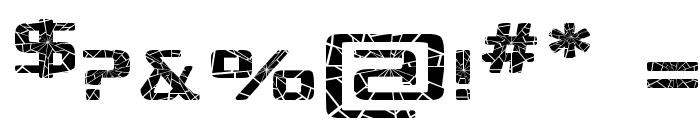 Republika Exp - Shatter Font OTHER CHARS