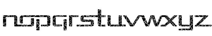 Republika Exp - Shatter Font LOWERCASE