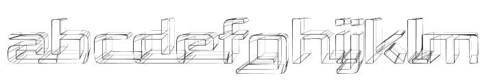 Republika Exp - Sketch Font UPPERCASE