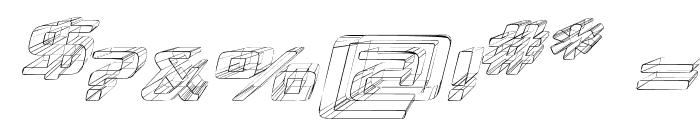 Republika Exp - Sktech Italic Font OTHER CHARS