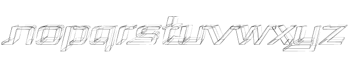Republika Exp - Sktech Italic Font UPPERCASE