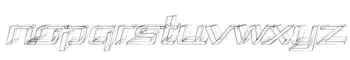 Republika Exp - Sktech Italic Font LOWERCASE