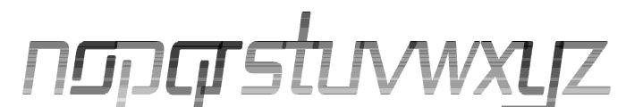 Republika II Cnd - Haze Italic Font UPPERCASE