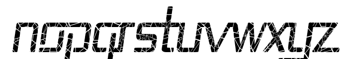 Republika II Cnd - Shatter Italic Font UPPERCASE