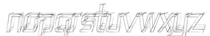 Republika II Cnd - Sketch Italic Font UPPERCASE