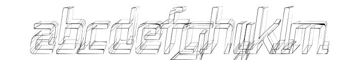 Republika II Cnd - Sketch Italic Font LOWERCASE