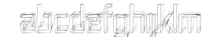 Republika II Cnd - Sketch Font UPPERCASE