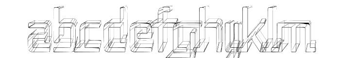 Republika II Cnd - Sketch Font LOWERCASE
