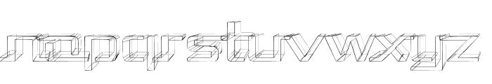 Republika II Exp - Sketch Font LOWERCASE