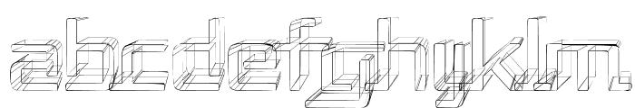 Republika II - Sketch Font LOWERCASE