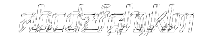 Republika III Cnd - Sketch Italic Font UPPERCASE