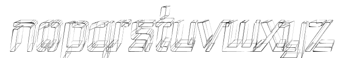 Republika III Cnd - Sketch Italic Font LOWERCASE
