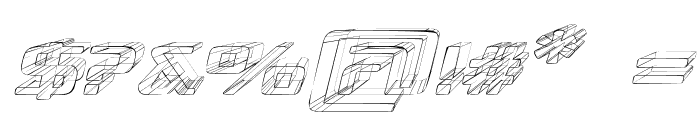 Republika III Exp - Sketch Italic Font OTHER CHARS