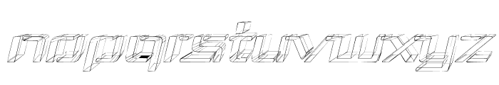 Republika III Exp - Sketch Italic Font UPPERCASE
