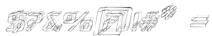 Republika III - Sketch Italic Font OTHER CHARS