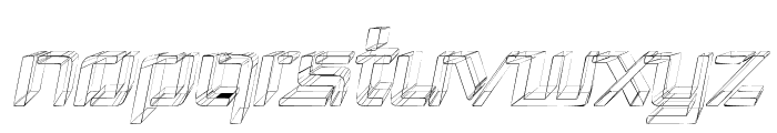 Republika III - Sketch Italic Font UPPERCASE