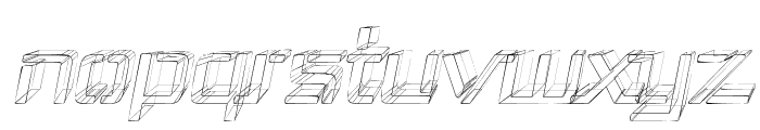 Republika III - Sketch Italic Font LOWERCASE