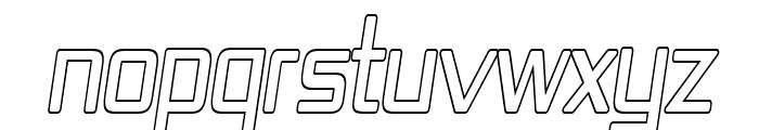 Republika IV Cnd - Outline Italic Font UPPERCASE