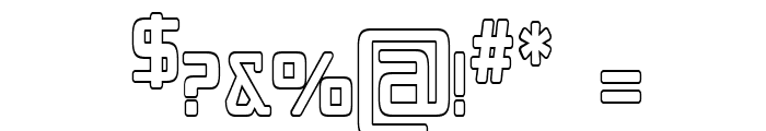 Republika IV Cnd - Outline Font OTHER CHARS