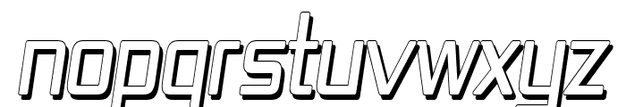 Republika IV Cnd - Shadow Italic Font UPPERCASE