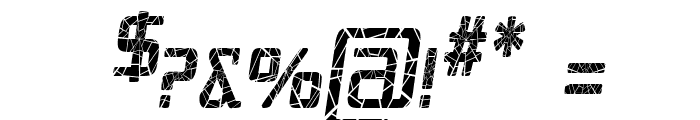 Republika IV Cnd - Shatter Italic Font OTHER CHARS