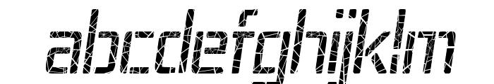 Republika IV Cnd - Shatter Italic Font LOWERCASE