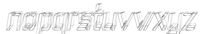 Republika IV Cnd - Sketch Italic Font LOWERCASE