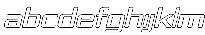 Republika IV Exp - Outline Italic Font UPPERCASE
