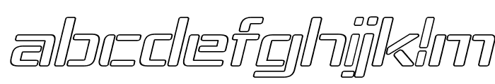 Republika IV Exp - Outline Italic Font LOWERCASE